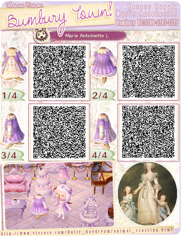 Preferenza animal crossing QR codes CV25